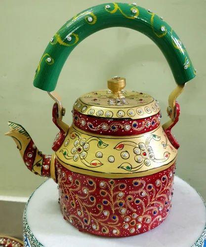 Aluminum Multi Decorative Tea Kettle Shape Round Rs 750 Piece