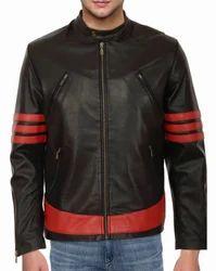 Black Mens Biker Leather Jacket