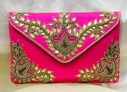 Gotta Patti Raw Silk Evening Clutches