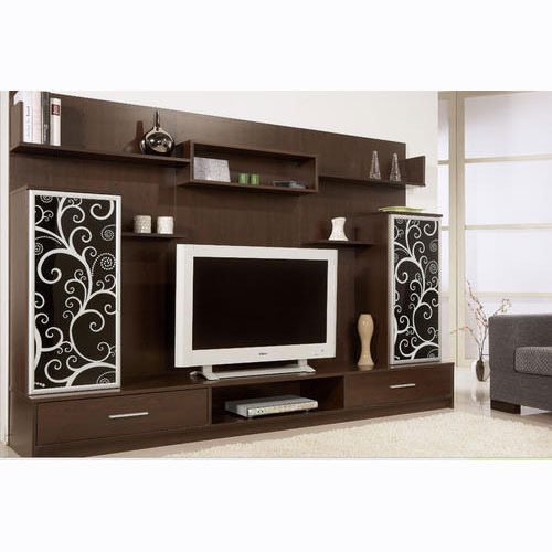 Led tv cabinet at rs 20000 piece television cabinet - Wall units for living room mumbai ...