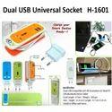 Dual USB Universal Socket H-1601