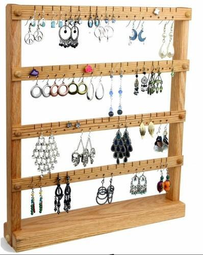 Product Image Brown Wooden Earring Rack