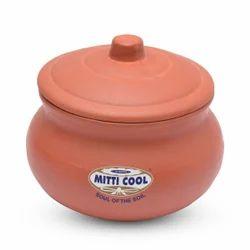 1 Liter Clay Curd Pot