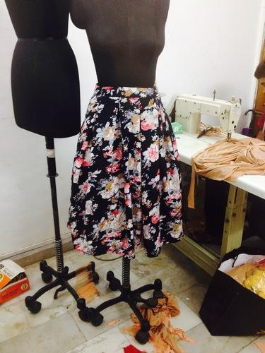 39865fe567 Navyblue Own Navy Blue Floral Print Short Skirt, Rs 450 /piece | ID ...