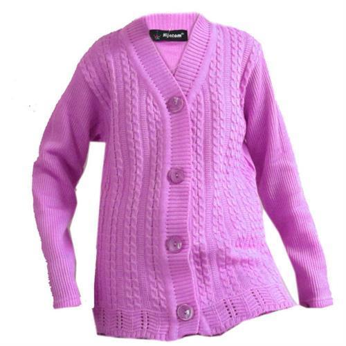 Pink Ladies Woolen Sweater eb98a34c6