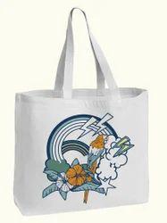 Parrot Print Design Cotton Bag