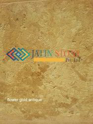 Flowery Gold Marble Antique Finish