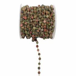 Unakite Gemstone Rosary Chain