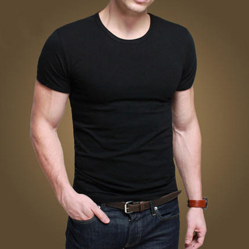 S And XL Party Wear Men  s Plain T-Shirt (Cotton 160 GSM) 263eb3a89097