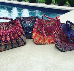 Handmade Mandala Tote Bag