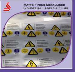 Matte Metalise Labels Stickers Films