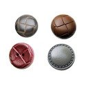 Artificial Leather Round Nylon Button, Packaging Type: Polypack, Size/dimension: 24lineto 40line