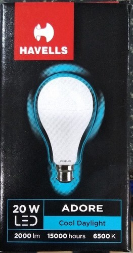 Led Daylight Bulb: Cool Daylight Havells LED Bulb 20 Watt, Base Type: B22, Rs
