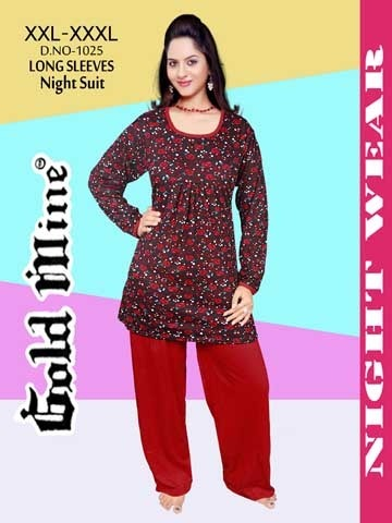 062f161e12 XXL XXXL Full Sleeves Long Top Night Suits at Rs 350 /piece ...