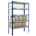 Silver Storage Rack Slotted Angle Shelving