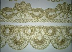 Kundan Cut Work Embroidery Lace, Thickness: 1-1.5 Mm