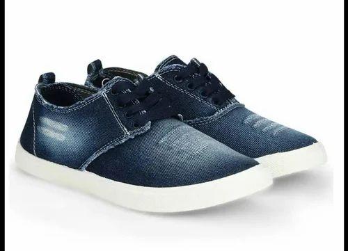 Men Blue Casual Wear Denim Shoes, Rs
