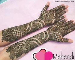 arabic full hand mehndi design front