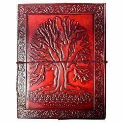 Life Tree Embossed Leather Journal