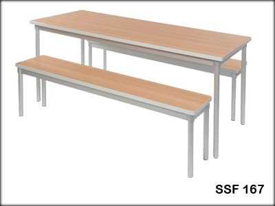 Magnificent Wooden Canteen Table Ocoug Best Dining Table And Chair Ideas Images Ocougorg