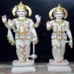 Marble Vishnu Laxmiji Statue