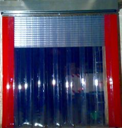 Red PVC Strip Curtains, Packaging Type: Roll