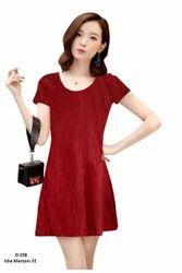 Ladies Half Sleeves Plain Dress