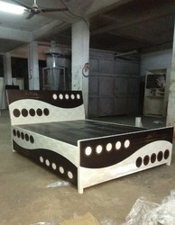 Stainless Steel Metal Double Bed, Warranty: 5 Year