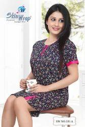Women Cotton Half Nightgowns, Size: L