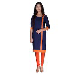 Nev Casual Long Kurta In 3/4 Sleeves  Machine Wash