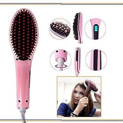 Hair Straightener Brush Salon Quality Straight Hairs