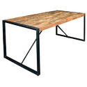 27 Kg Natural Industrial Reclaimed Wood Dining Table, Country Of Origin: India