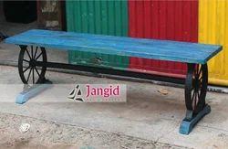 Jangid Art & Crafts Industrial Vintage Wooden Bench