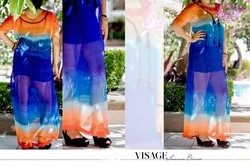 Georgette Ombre Print