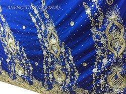 Heavy Beaded VIP Wrapper Fabric With Blouse