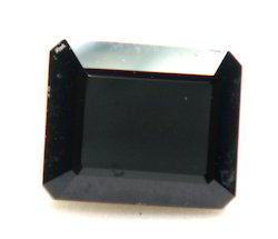 Black Onyx Faceted Gemstone