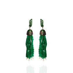 Green Onyx Sterling Silver Earrings