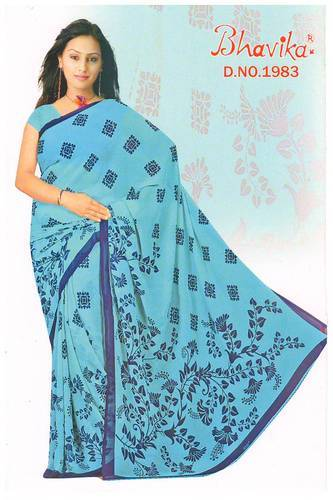 d18cfed6aab0f5 Party Wear Printed Georgette Saree at Rs 270  piece