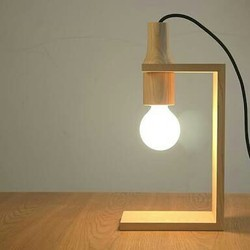 Wooden Table Study Lamp