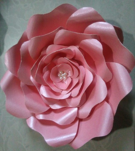 Pink paper flower at rs 25 piece kagaz ke phool harivrund paper pink paper flower mightylinksfo