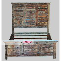 Jangid Art & Crafts Reclaimed Wooden Bed