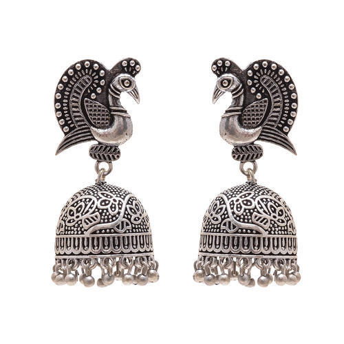 6a5e543c4e6c4 German Silver Jhumka Set