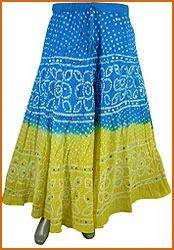 Hand Bandhej Skirt