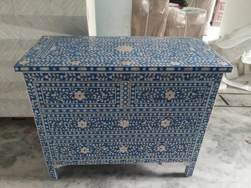 Mother Of Pearl Inlay Chest Drawer Dresser