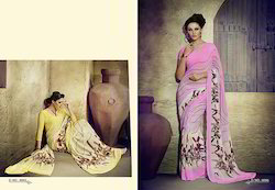 Casual Wear And Festive Wear Printed Ladies Saree