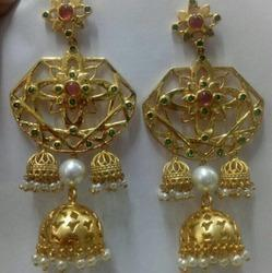 Designer Jhumka With Gold Plated