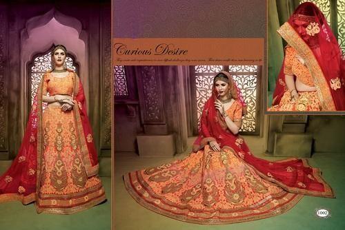 3e72048523a3d Brocade Gota Work Semi-Stitched Bridal Lehenga, Rs 12500 /piece   ID ...