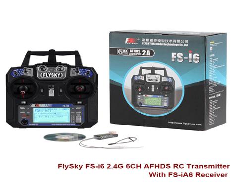 FlySky FS-i6 2 4GHz 6Ch AFHDS RC Transmitter - Techtonics