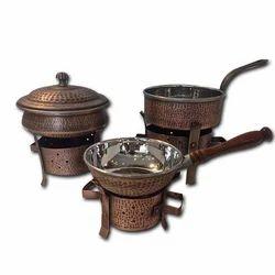 Smokey Finished Versatile Copper Hammered Angithi