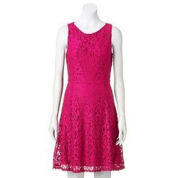 Pink Women's Lace Dress